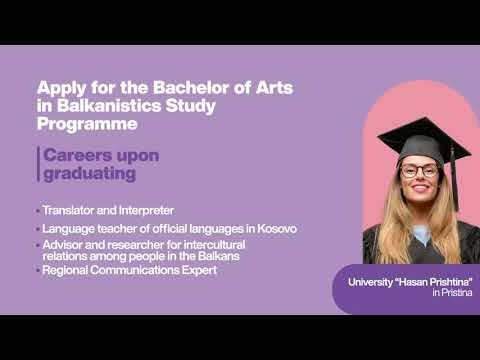Balkanistics Study Programme